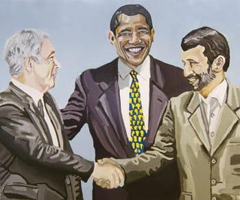הדס רשף, הסכם השלום, 2010  שמן על בד, 50X60 מחיר: 2000$