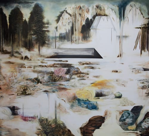 נגה אנגלר - Though Under and Above, 2010, 190x200cm, Oil on Canvas