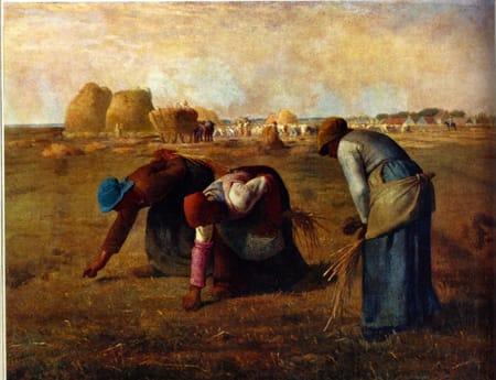 """""""חוסר יכולת לתת ביטוי לחוויה המרחבית של האיכר"""". ז'אן פרנסואה מייה, """"המלקטות"""", 1857"""