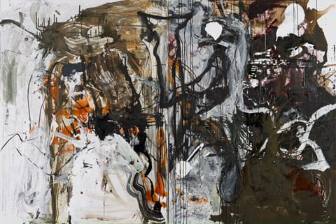"""ציבי גבע - ללא כותרת, (דיפטיך),2013, 200x300 ס""""מ, אקריליק ושמן על בד ס""""מ"""