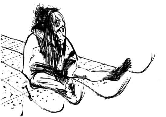 יאיר פרץ, ללא כותרת, טוש על נייר 2012
