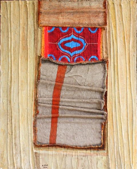 עבד עאבדי - שטיח תפילה ושק יוטה, 2010