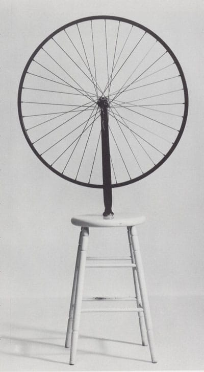 """מרסל דושאן, """"גלגל האופניים"""" Bicycle Wheel, 1913"""