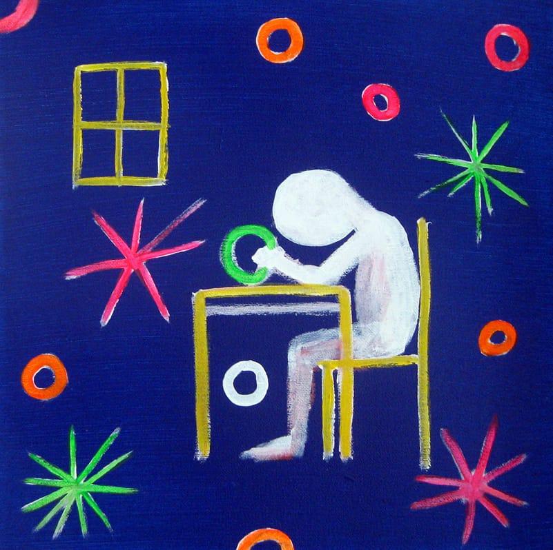 """זמיר שץ, """"בקושי"""", 30x30 ס""""מ, 2013"""