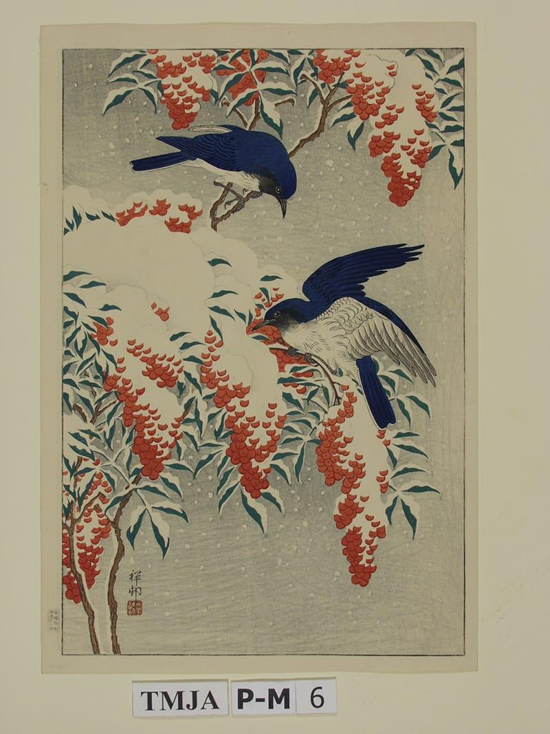 פרחים וציפורים באמנות יפן
