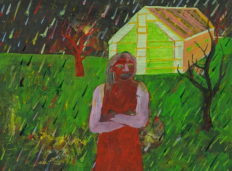 """יואב הירש, """"דמות בגשם"""""""