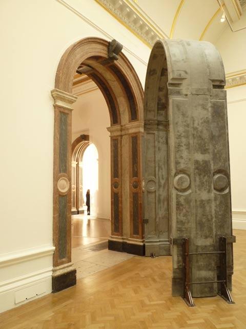 'Sensing Spaces - Architecture Reimagined''  Title: 'Replica of marble arch opening' by Eduardo Souto de Moura, Photo © Ram Ahronov, Royal Academy of Art, London, 2014. Photograph: Ram Ahronov