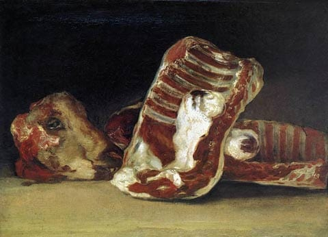 """פרנצ'סקו גויה, """"טבע דומם: בחנותו של הקצב"""", 1810-12, אוסף מוזיאון הלובר, פריז"""