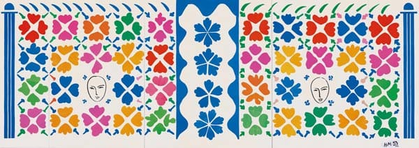 Henri Matisse: The Cut-Outs | Tate Modern 17 April - 7 September 2014 Henri Matisse (1869 -1964) Large Decoration with Masks 1953 National Gallery of Art, Washington. Ailsa Mellon Bruce Fund 1973.17.1 Digital Image: © National Gallery of Art, Washington Artwork: © Succession Henri Matisse/DACS 2014