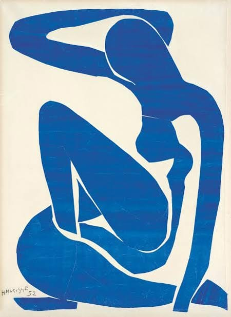 Henri Matisse: The Cut-Outs | Tate Modern 17 April - 7 September 2014 Henri Matisse (1869 -1964) Blue Nude (I) 1952 Gouache painted paper cut-outs on paper on canvas 106.30 x 78.00cm Foundation Beyeler, Riehen/Basel Digital image: Robert Bayer, Basel Artwork: © Succession Henri Matisse/DACS 2014
