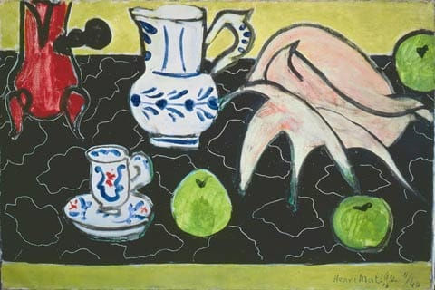 Henri Matisse: The Cut-Outs | Tate Modern 17 April - 7 September 2014 Henri Matisse (1869 -1964) Still life with Shell 1940 Oil on canvas The State Pushkin Museum of Fine Arts, Moscow Artwork: © Succession Henri Matisse/DACS 2014