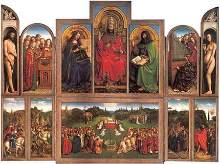 פוליפטיך האחים וואן אייק, ה״סגידה לכבשה״, המאה ה-15, גנט