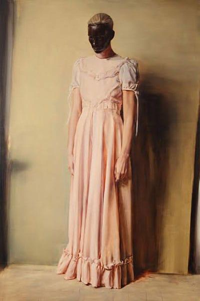 """מיכאל בורמנס, """"המלאך"""", 2013. 200x300 ס""""מ, שמן על בד"""