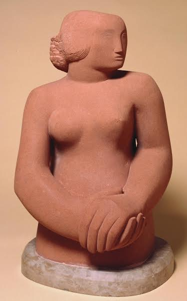 Barbara Hepworth Figure of a Women, 1929 – 30 Sculpture Corsehill stone, 533x305x279 mm Tate, Presented by the artist 1967, T00952