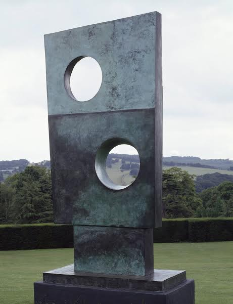 Barbara Hepworth Squares with Two Circles, 1963 Bronze, 3061x1372x318 mm © Bowness