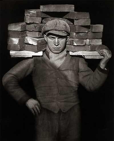 """August Sander, """"Bricklayer"""", 1928"""