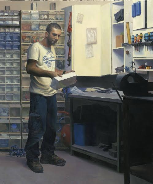 מתן בן כנען , המחסן של אבא, שמן על לוח, 2014