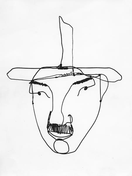 Alexander Calder: Performing Sculpture | Tate Modern 11 November 2015 - 3 April 2016 Alexander Calder (1898 - 1976)  Fernand Léger c.1930 Wire 420 x 380 mm Private collection © 2015 Calder Foundation, New York / DACS, London