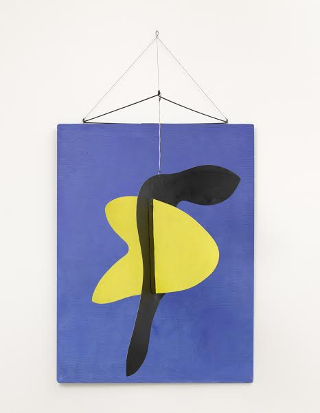 Alexander Calder (1898 - 1976)  Blue Panel 1936 Plywood, sheet metal, wire, string and paint 1000 x 600 mm Calder Foundation, New York © 2015 Calder Foundation, New York / DACS, London