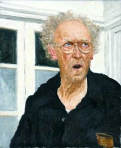 אריכא - דיוקן עצמי בסטודיו - 2001 - שמן על בד - אוסף גלריה גורדון