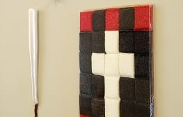 Still life with sponge cross, Jesus corn and baseball bat