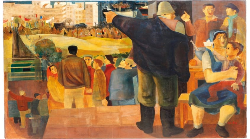 """נפתלי בזם, """"לעזרת הימאים"""", 1952"""