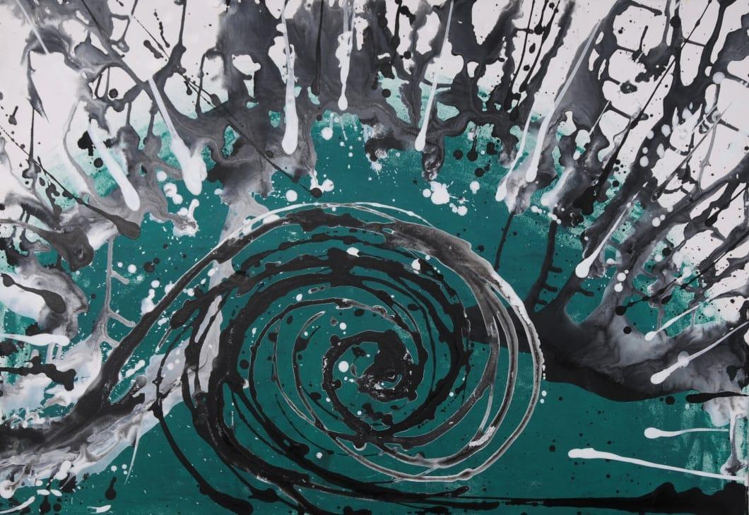 """מתוך """"בגלל הרוח"""", תערוכת ציורים של בוגרי ודיירי כפר רוח-מדבר"""