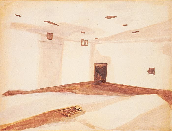 Luc Tuymans Gaskamer (Gas Chamber), 1986 oil on canvas 19 x 27