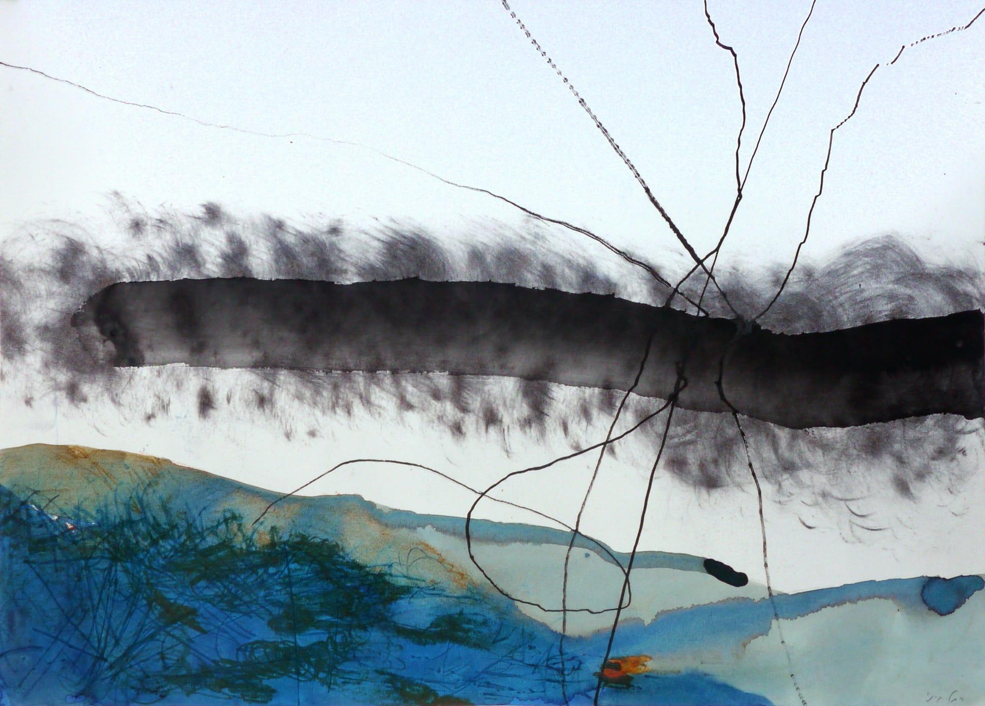 רחל קיני, ללא כותרת, 2015, טכניקה מעורבת על נייר
