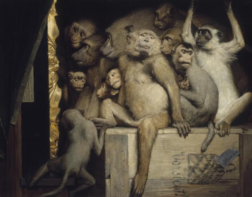 Gabriel Cornelius von Max, Monkeys as Judges of Art, 1889