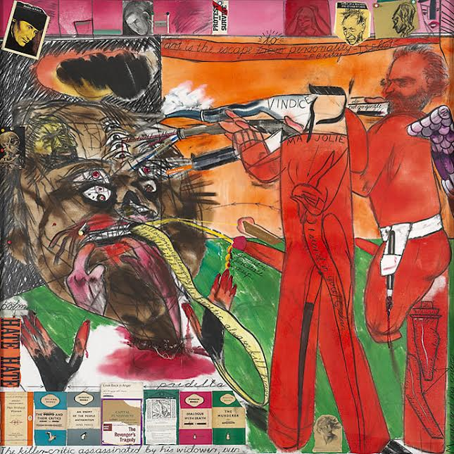 R.B. Kitaj, The Killer-Critic assassinated by his Widower, Even, 1997