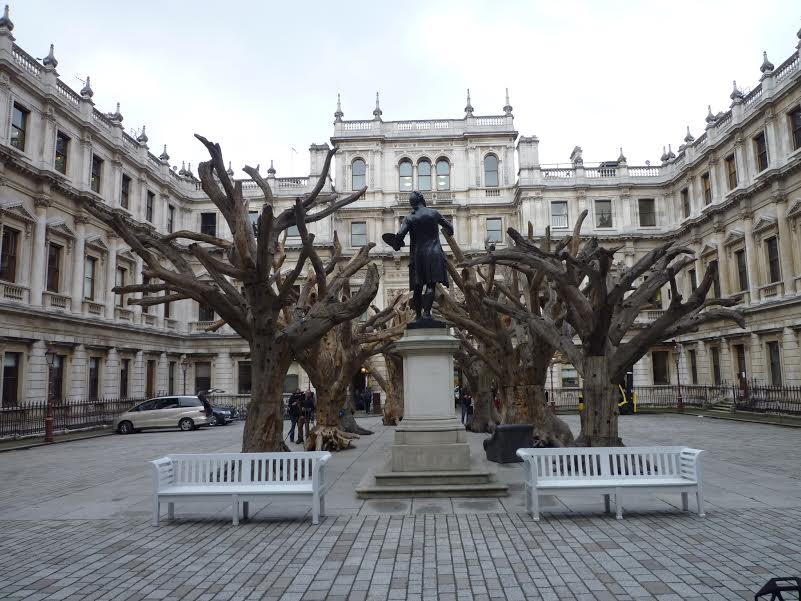 Ai Weiwei, Trees , 2009 – 10 Segments of mountain's trees, general view Photo, courtesy of Royal Academy of Arts, London. Photography © Ram Ahronov