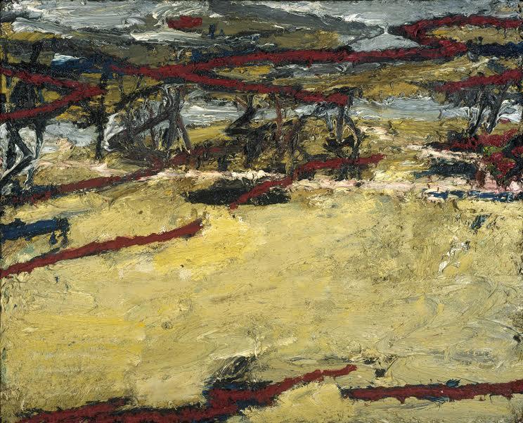 Frank Auerbach Primrose Hill , Spring Sunshine 1961-2/64 Oil paint on board. 1125x1400mm Scottish National Gallery of Modern Art, Edinburgh © Frank Auerbach, courtesy Marlborough Fine Art