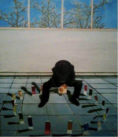 """שמעון פינטו, """"ברכת האילנות"""", שמן על בד, 2009"""