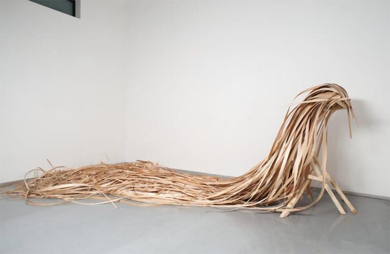 אביטל כנעני, חיה (פרט), 2012. עץ ופורמאיקה