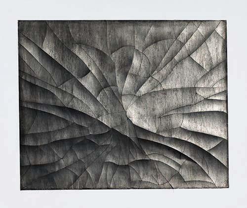 """יונתן צופי, נייר שבור"""", 2014. גרפיט וחיתוכים על נייר, 50X40 ס""""מ"""